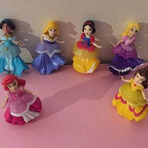 Disney Princesses, small tpys, not for infants